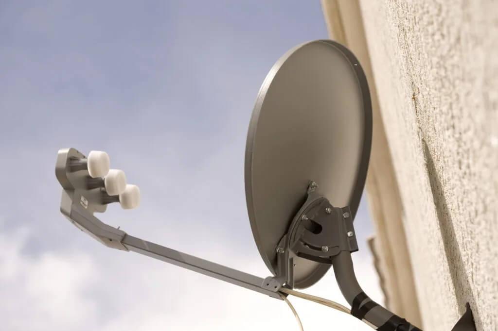 Different types of satellite antennas
