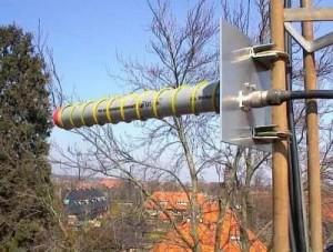 circular exploration, the antenna rotates